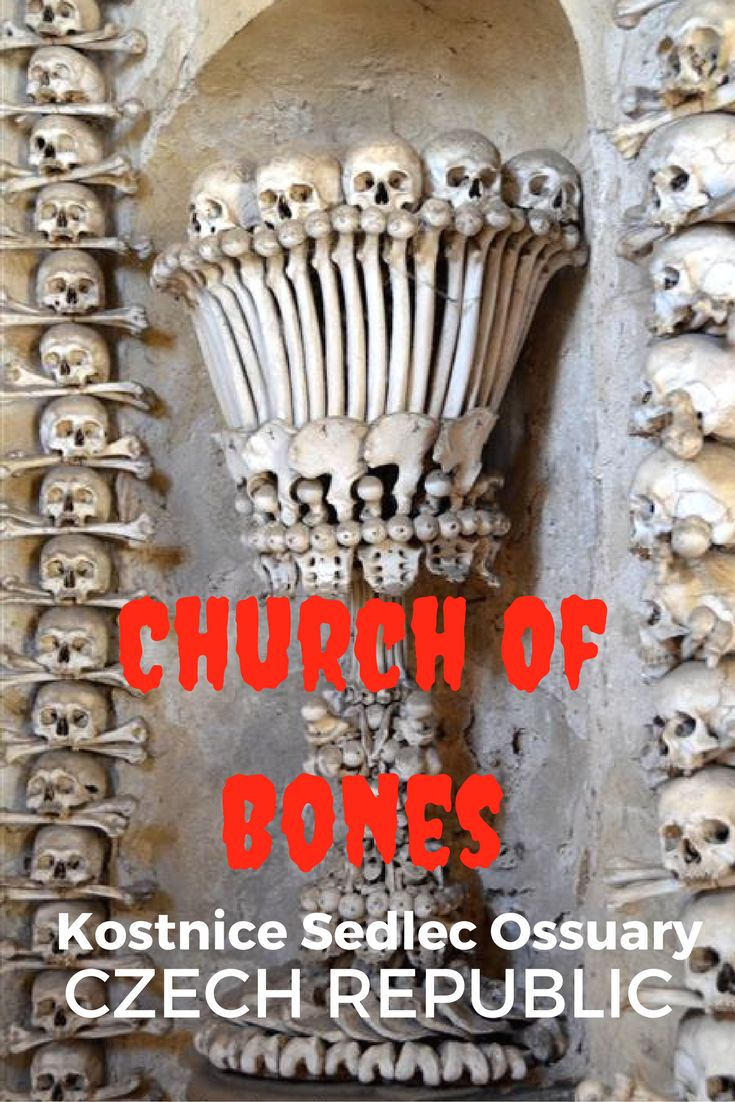 Guide and tips for visiting the Bone church or Church of Bones in Kostnice Sedlec Ossuary in Kotna Hora, Czech Republic with kids