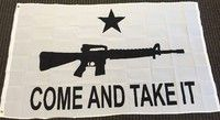 Geek   Come and Take It Rifle Polyester Flag 3 x 5 Gun Rights Protest Banner