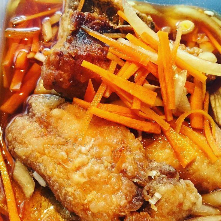 あじの南蛮漬け 人参と玉ねぎもたっぷり入れました #鯵 #南蛮漬け #おうちごはん #まこめし #makofoods #japanesefood