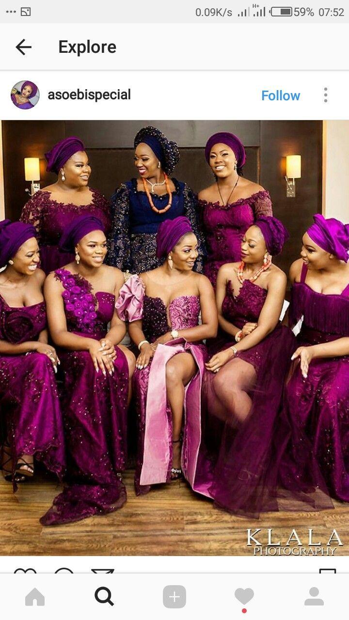 Pin By Favy Latest On Bridal Shower Nigerian Bridesmaid Nigerian Wedding Dress African Wedding Attire