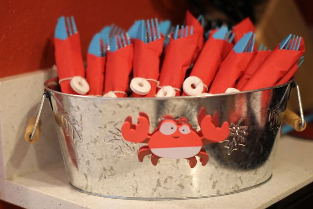 Utensils at a Crab Party #crab #party