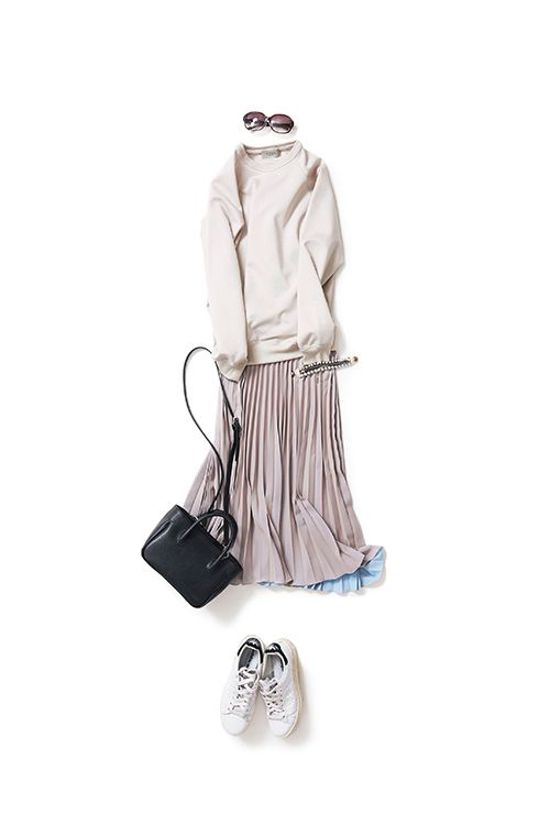 コーディネート詳細(スカートスタイルもニュアンストーンが気分)| Kyoko Kikuchi's Closet|菊池京子のクローゼット