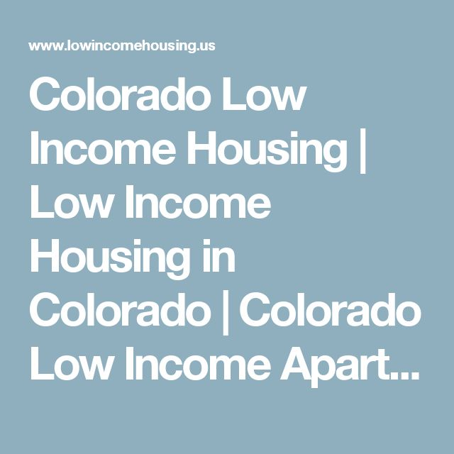 Colorado Low Income Housing   Low Income Housing in Colorado   Colorado Low Income Apartments