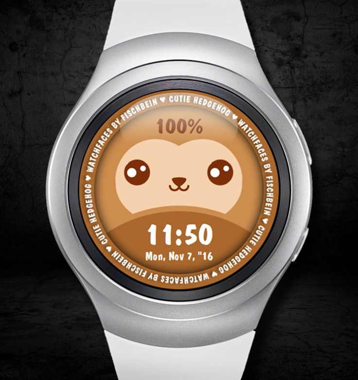 Cutie Hedgehog 24h – Watchfaces by Fischbein