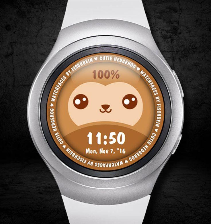 Cutie Hedgehog 24h – Watchfaces by Fischbein