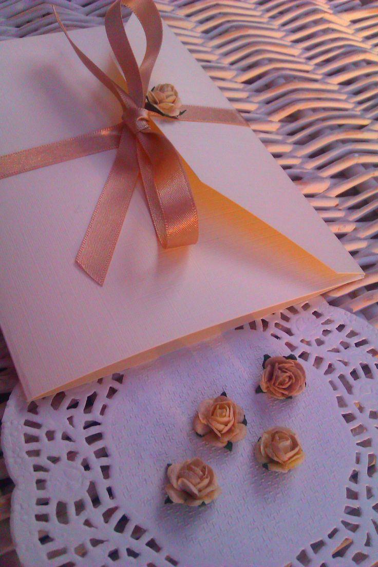 Lace pocket fold invitations