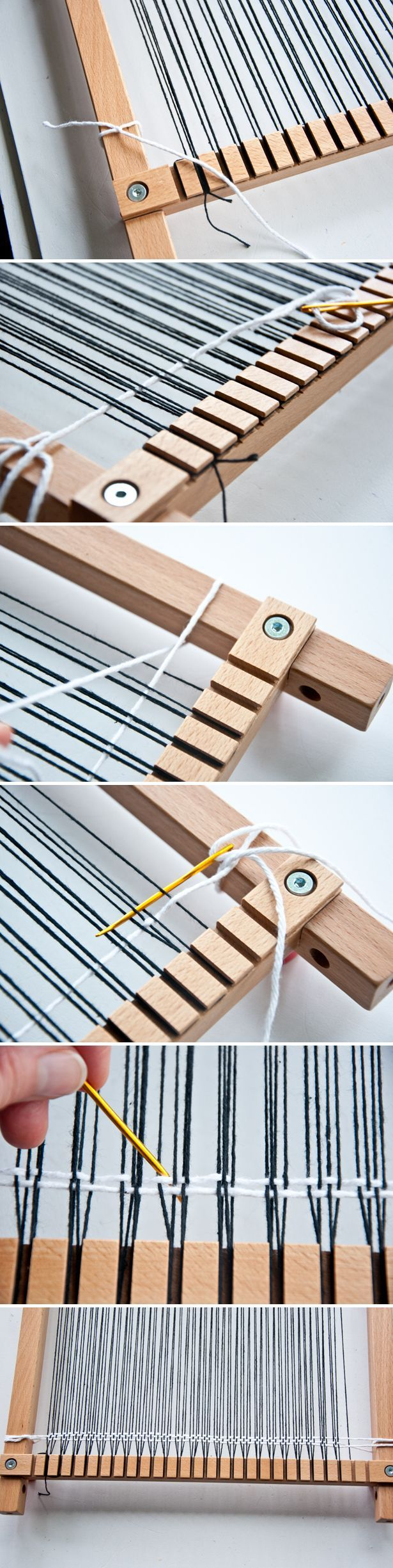 This entire blog is GREAT! So helpful for beginning weavers like me. How To Double Warp a Loom | The Weaving Loom:
