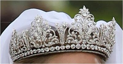 The Royal Order of Sartorial Splendor Percy Tiara worn at the marriage of Lady Melissa Percy to Thomas Van Straubenzee . The Percy's are the Dukes of Northumberland.