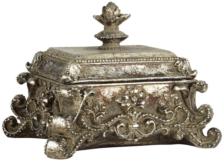 Ara Antique Silver Decorative Jewelry Box | 55DowningStreet.com