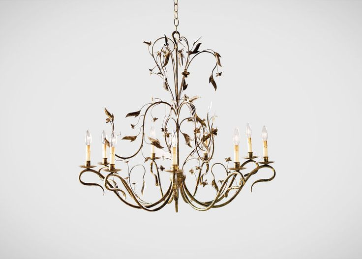Nine Light Arcadia Chandelier. #EthanAllen #EthanAllenBellevue #Chandelier # Lighting
