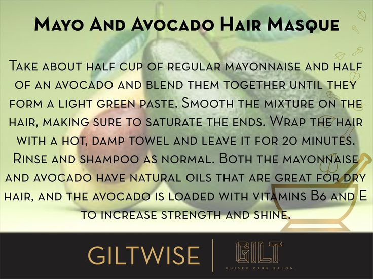 #GILT #Salon #Homecare for #hair #DIY #Mayo and #Avocado #Masque #HairCare #HairWeekSpecial