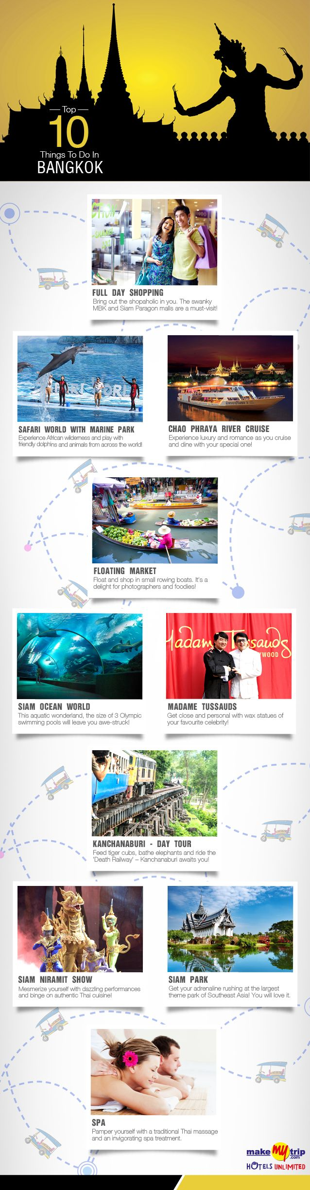 Things to do in Bangkok Infographic@Makymytrip.com