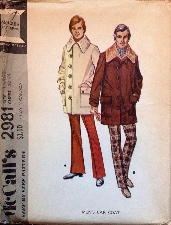 McCall's 2981 UNCUT Men's Car Coat by Lonestarblondie on Etsy