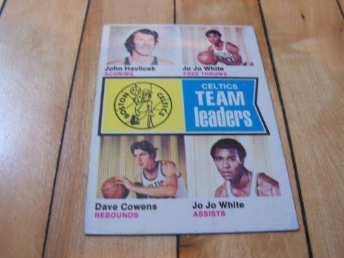 John Havlicek Jo Jo White Dave Cowens 1974 75 Topps Boston Celtics Team Leaders | eBay