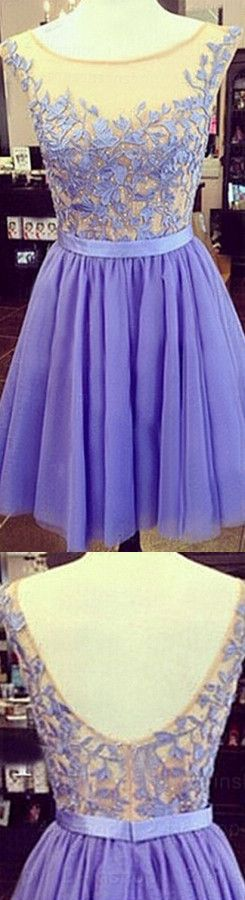 Real Made Beading Short/Mini Charming A-Line Short Prom Dresses,Tulle Homecoming Dress Homecoming Dresses On Sale,SC59