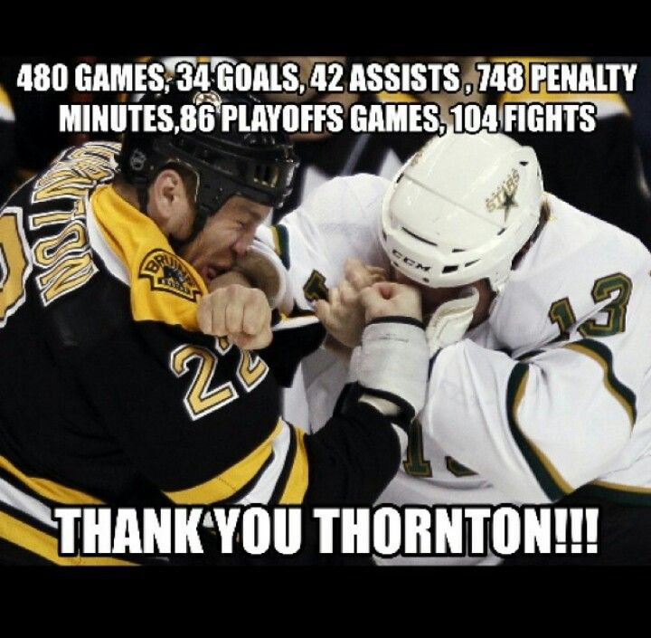 Notice he has more penalty minutes than anything. One of my favorite enforcers of all time. Shawn Thornton.