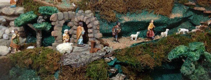 Pesebre en icopor- salida de los pastores al portal