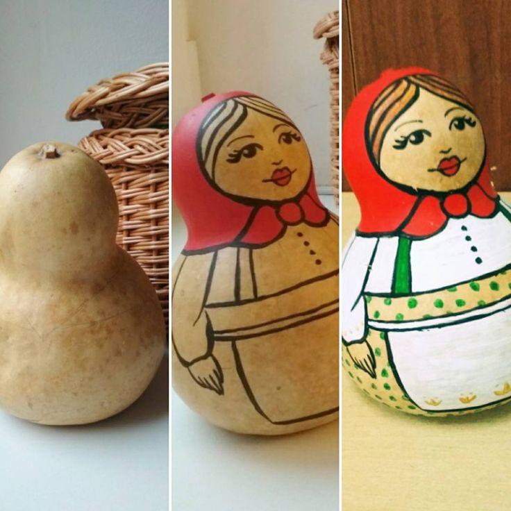 Craft for toddler.  A funny pumpkin=). Acrylic. Handmade for kindergarten.  Занятие для детей. Веселая тыква=) Акрил. поделка в сад