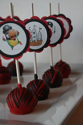Pirate Cake Pops - the easy way!