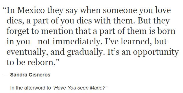 Sandra Cisneros, Have You Seen Marie?
