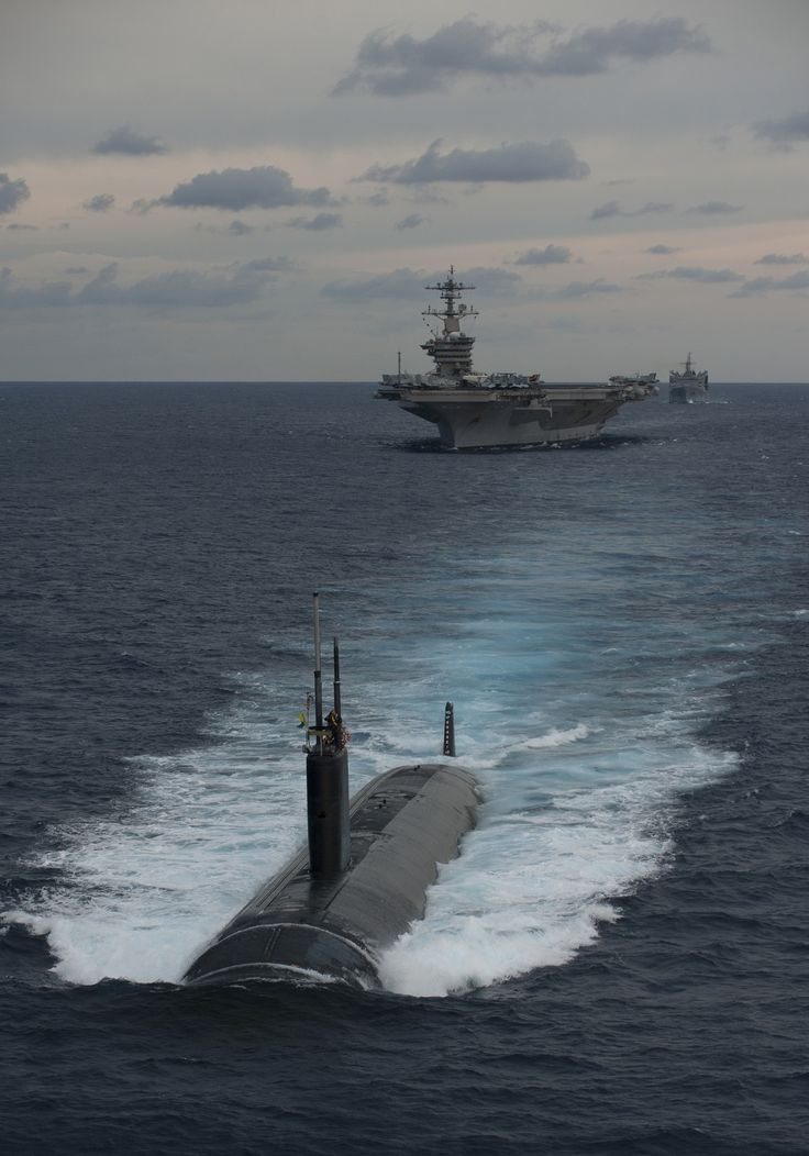 Submarine and carrier