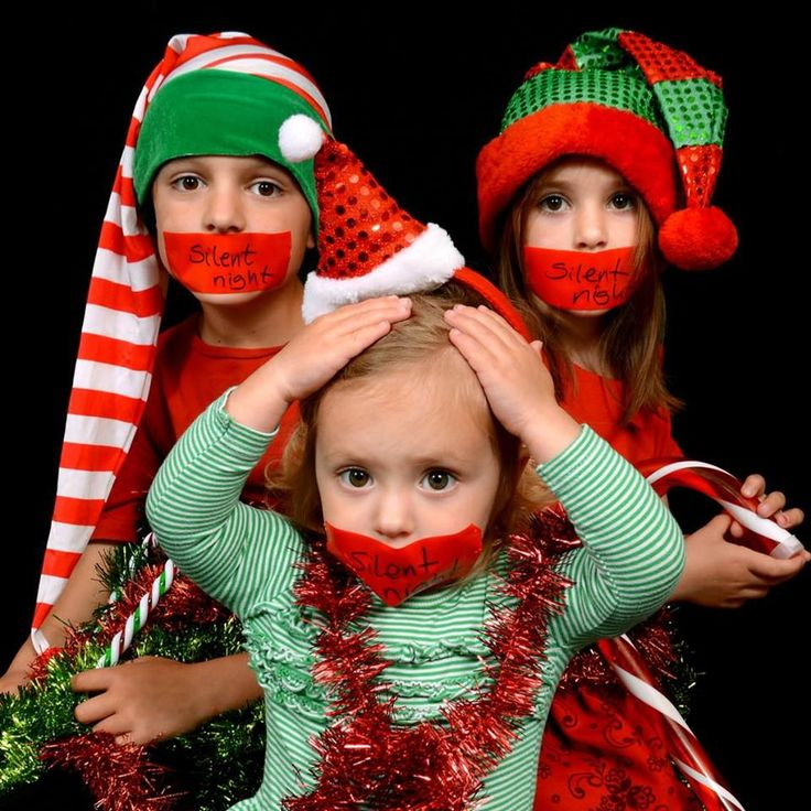 Silent Christmas funny picture with Wallace kids