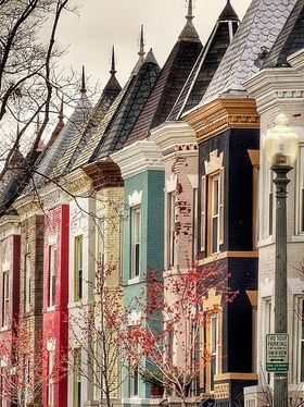 One of my favorite parts of DC - The houses! - A. Flores  Row houses, Washington, DC