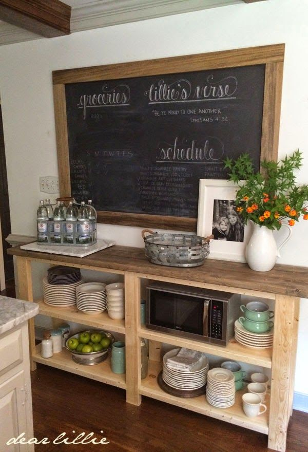 Dear Lillie: A Sideboard For Our Kitchen **This would be great replacement for the front hallway wall**