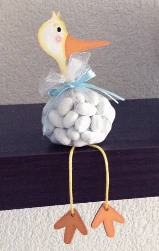 Good idea for a small take-with-you gift for a baby shower; pink ribbon could be used for a baby girl shower.