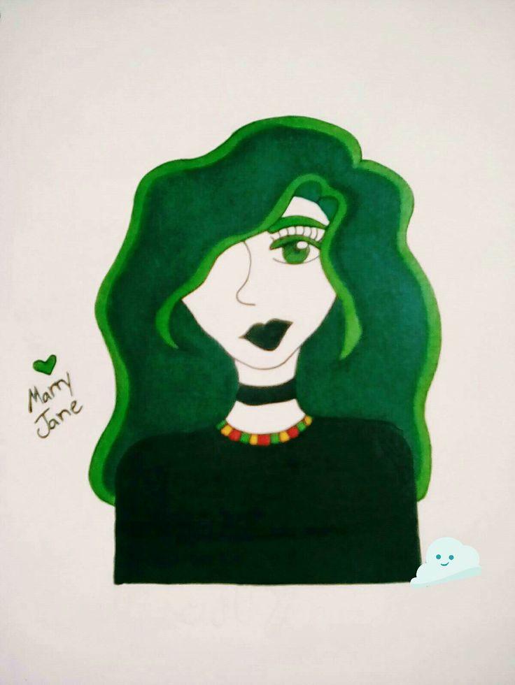 🍁Marry Jane🍁#cutedrawing #Green #weed #marijuana