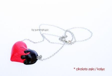 Çikolata Aşkı / kolye  Pasta Tabağı / kolye  #fashion #design #miniature #food #art #miniaturefoodart #polymerclay #clay #minyatur #polimerkil #kil #nutella #tasarim #taki #sanat #moda #sokak #tutorial #yummykupe #mold #kalip #nasil #bileklik #kolye #kupe #yuzuk #aksesuar #kadin #ring #earring #accesorie #necklace #chocolatelove #chocolate #love #cikolata