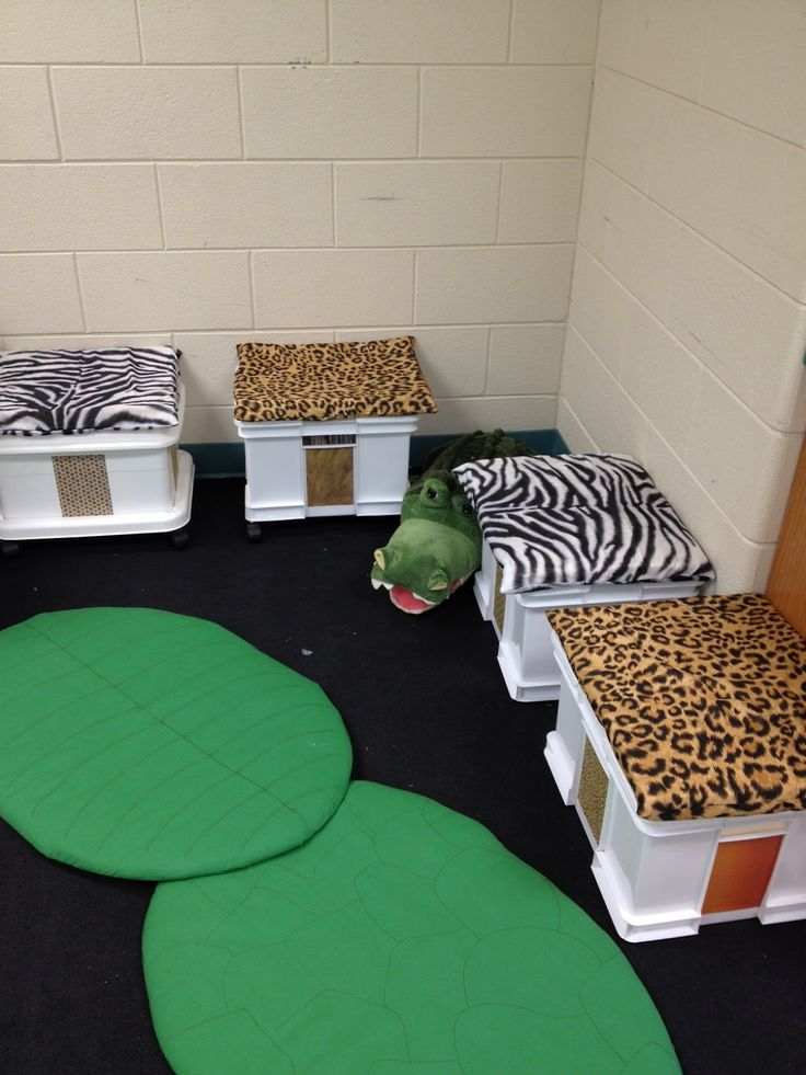 And How are the Children?Playrooms Reading, Animal Prints Theme Classroom, Reading Area, Jungles Theme, Education Ideas, Classroom Reading, Teaching Ideas, Classroom Ideas, Animal Prints Classroom Theme