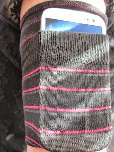 Hot Glue & Sparkle: DIY ARMBAND PHONE CARRIER (MADE OUT OF A SOCK)!