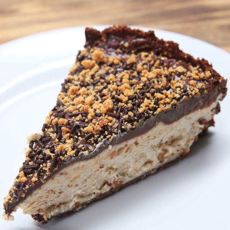 Cheesecake de Paçoca e Brigadeiro