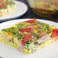 Ham and Tomato Egg Bake Recipe