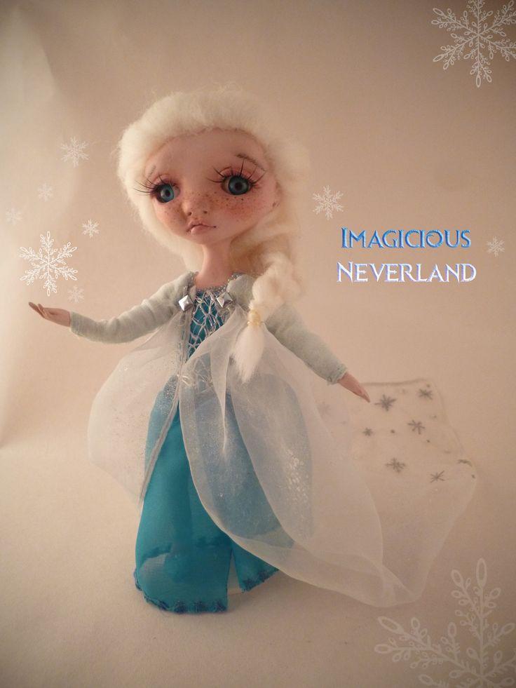 #elsa #frozen #diy #ooak #handmade #doll