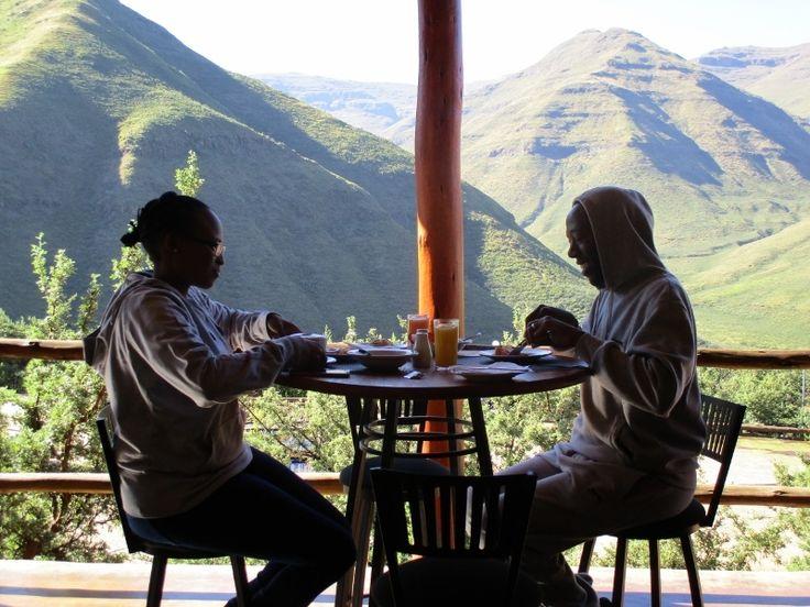Guests Enjoying the restraunt at beautiful Maliba Lodge.