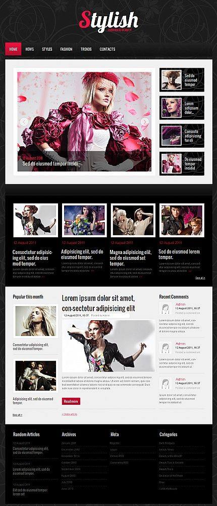 Stylish Fashion Moto CMS HTML Templates by Mercury