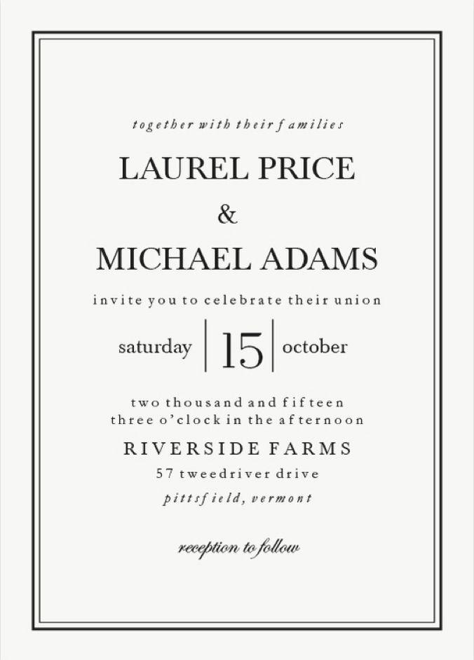Classic Black Tie Wedding Invitations from Walmart Stationery