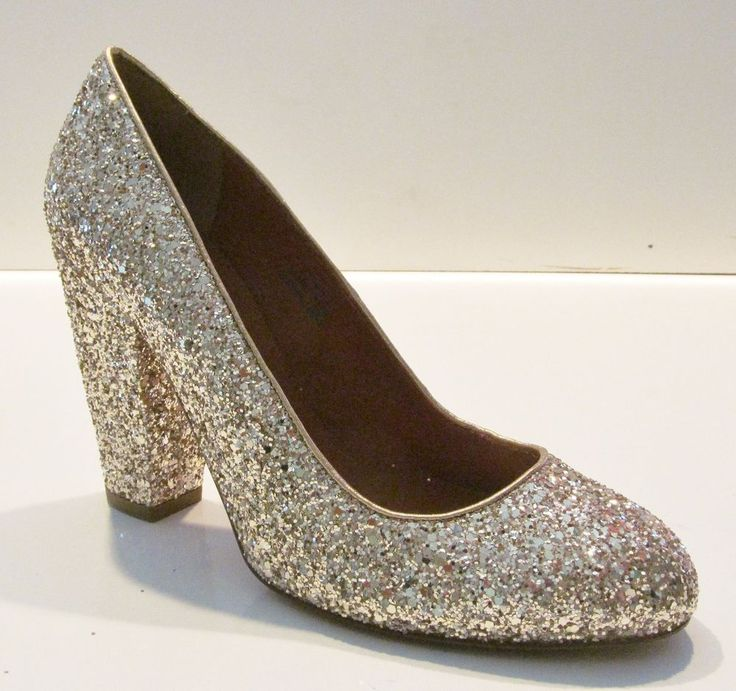 Madewell for J Crew The Frankie Pump in Glitter