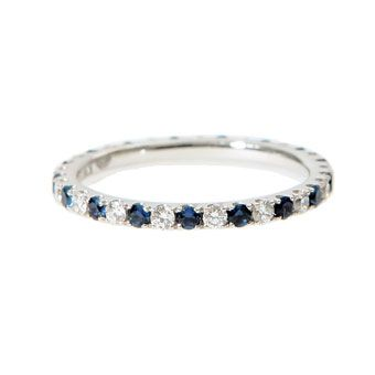 Sapphire is my birthstone, so this would be a great wedding band or anniversary band.