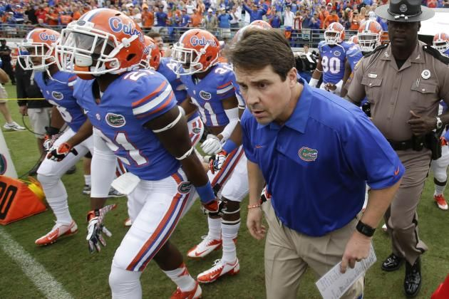 Coach Will Muschamp, Florida. His last year with the Gators?