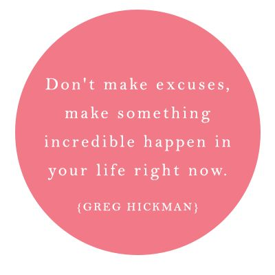 Don't make excuses female entrepreneur association