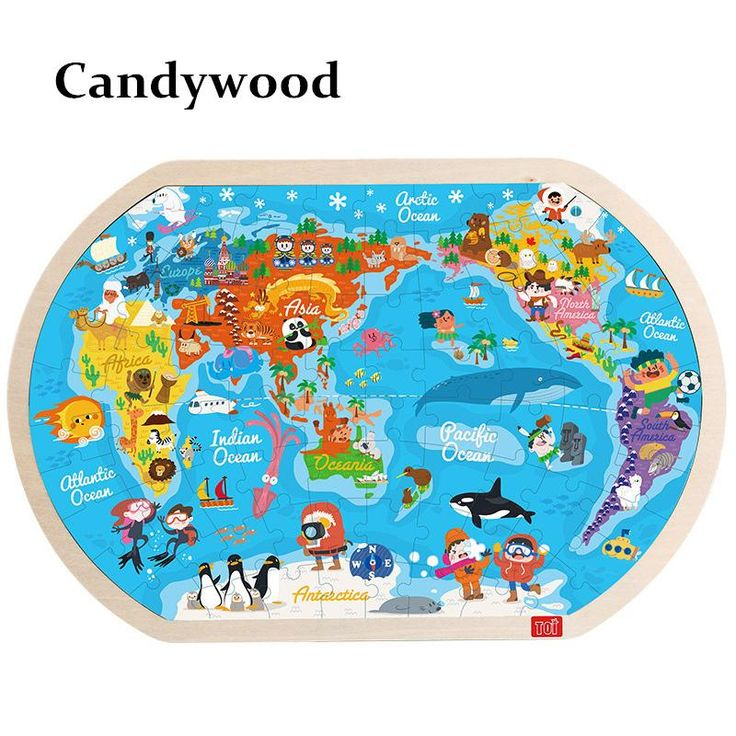 The 25 best world map puzzle ideas on pinterest boys airplane 4530cm large the world map puzzle kids wooden toys children early learning education toys sciox Image collections