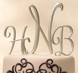 Monogram Cake Topper Letters