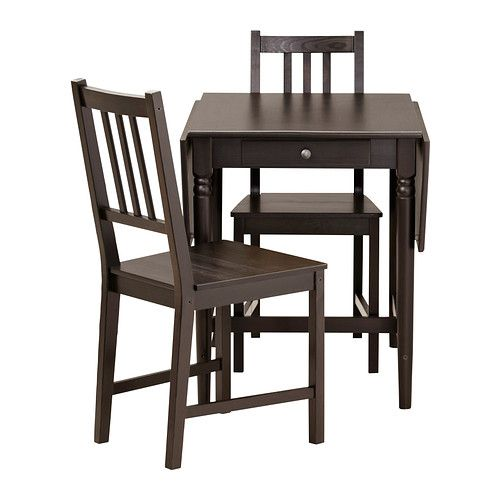 INGATORP STEFAN Table And 2 Chairs Black brown Ikea