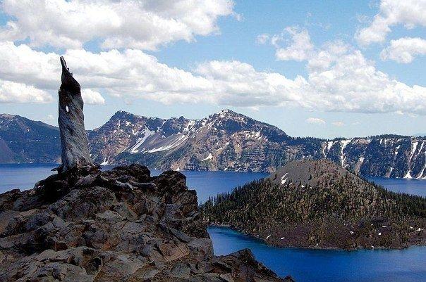 Кратерное озеро Крейтер (Crater Lake), штат Орегон, США - Путешествуем вместе