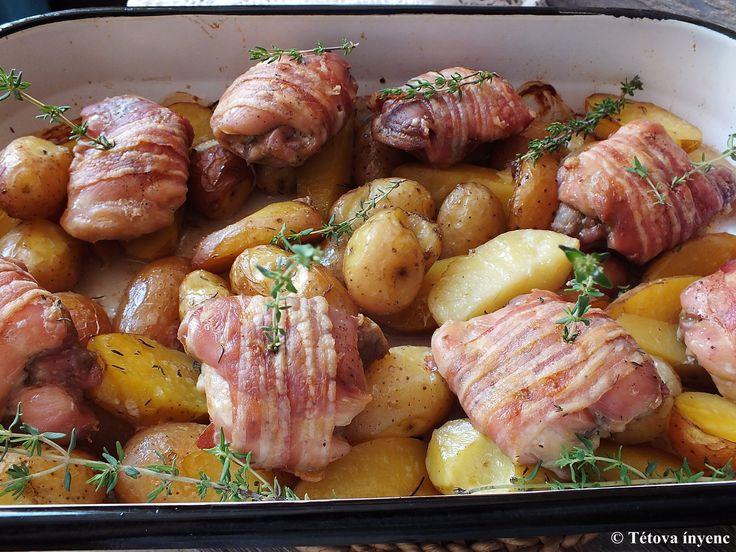Szeretem az ilyen ételeket. Bepakolok mindent egy tepsibe, betolom a sütőbe, majd behúzom kijövök a konyhából és behúzom magam után az ajtót. Néha...
