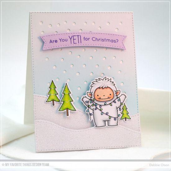 Beast Friends Stamp Set and Die-namics, Snowfall - Vertical Die-namics, Stitched Snow Drifts Die-namics - Debbie Olson  #mftstamps