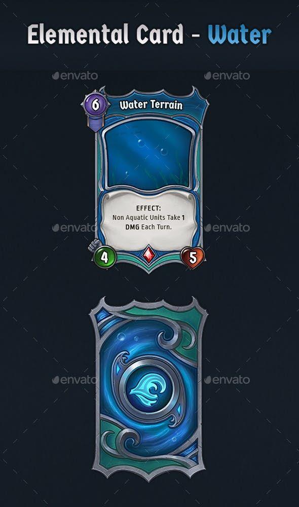 Elemental Card Water Game Card Design Cards Card Design